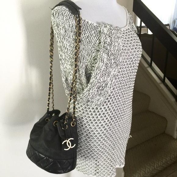 66% off CHANEL Handbags - Chanel matelasse bucket chain quilted ... : chanel quilted chain bag - Adamdwight.com
