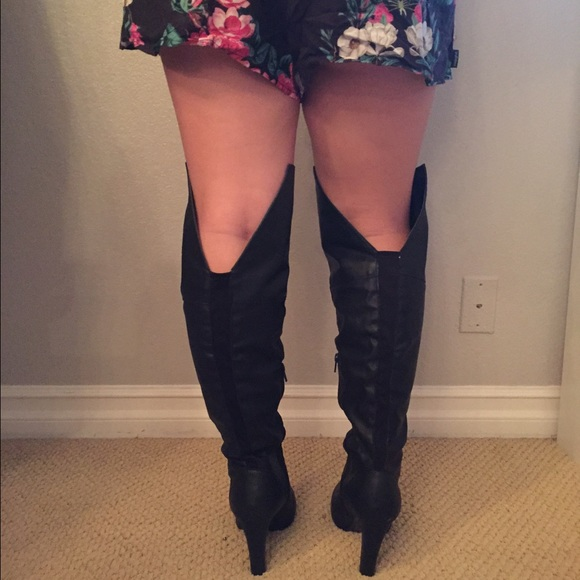 10 boots patent leather plus size thigh high boots