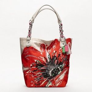 Coach Handbags - Coach Poppy Placed Flower Tote - Large (NEW)