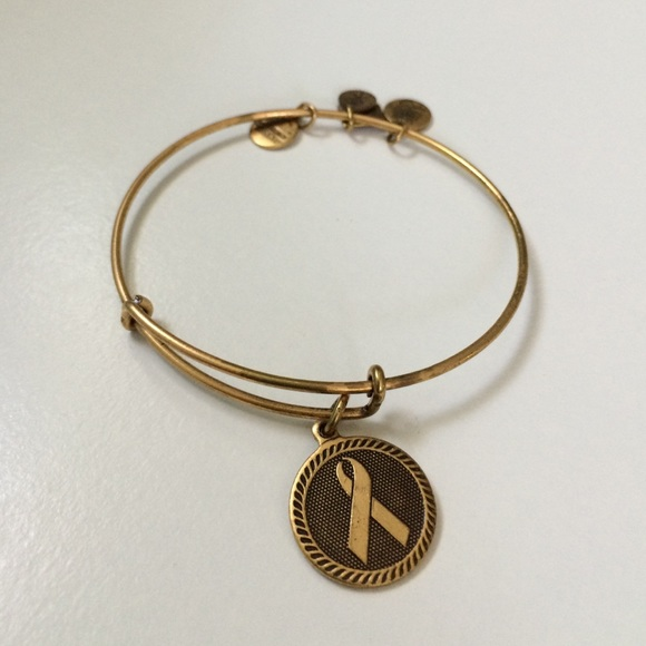 29 off Alex and Ani Jewelry Alex Ani Breast Cancer Ribbon Bracelet