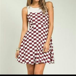 SUMMER CLEAR OUTNew silk checkered dress
