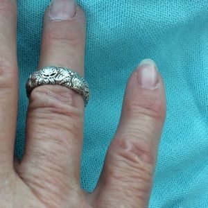 Antique remarkable sterling silver ring, 7