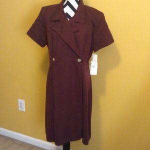 NWT StudioC  chocolate brown wrap dress sz. 18