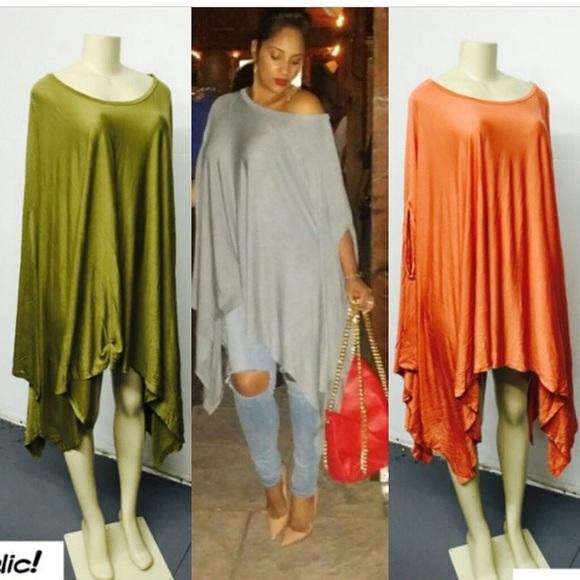 Tops Green Poncho Dressshirt Poshmark