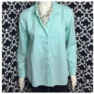 🆕LISTING Mint Guess Oxford Top