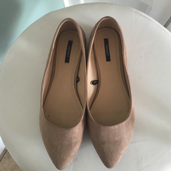 Shoes | Taupe Pointed Toes Flats | Poshmark