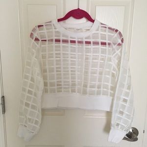 Tops - Grid crop top