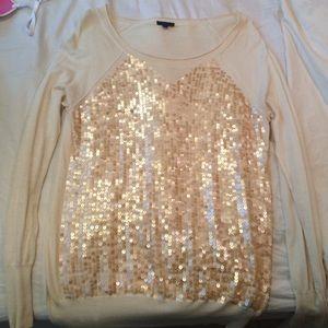 JCrew sequin sweater size S