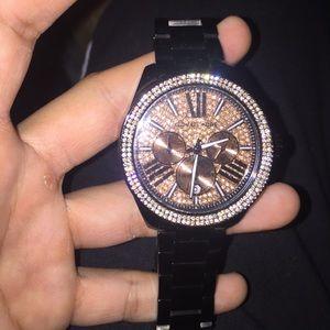 dea3b5b7dd46a Michael Kors Jewelry - MK 5879 black women s Michael Kors watch