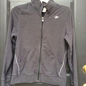 Grey Nike Full Zip Jacket