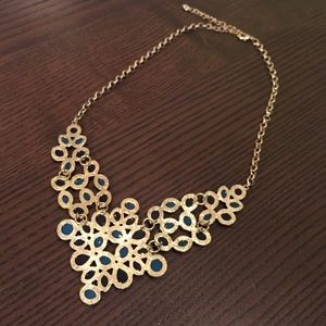Francesca's Collections Jewelry - Navy and Turquoise Statement Necklace