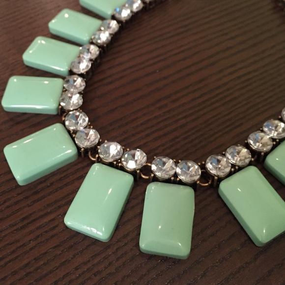 Lily Wang Jewelry - Mint Rhinestone Statement Necklace