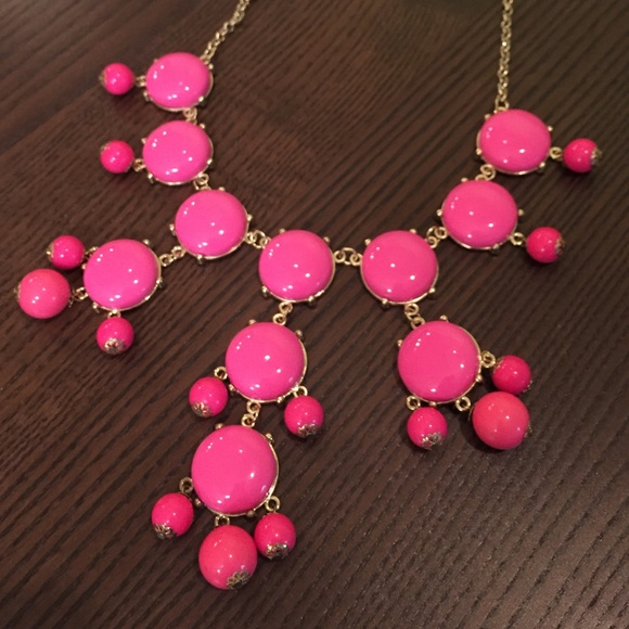Jewelry - JCrew Inspired Pink Bubble Necklace