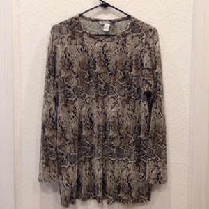 Tops - Snakeskin Print Tunic Size M