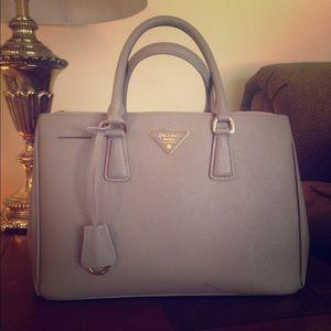 prada leather goods - 38% off Prada Handbags - Prada Saffiano Double-Zip Executive Tote ...