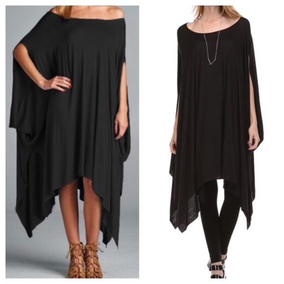 ad2335c61c2 Dresses | Black Poncho Style Tunic Dress | Poshmark