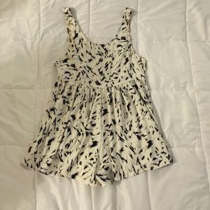 Black and white romper with back out