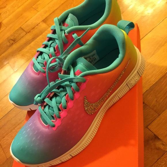 low priced 36371 a59a2 Custom Rainbow Nike Free Express