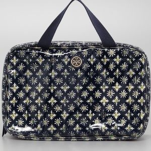 Tory Burch Blue Brigitte Hanging Cosmetic Case NWT