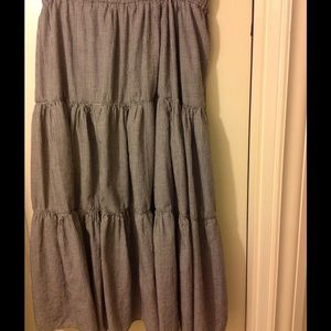 Dresses & Skirts - Vintage Broomstick Maxi Skirt