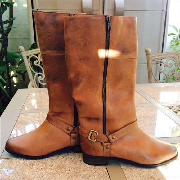 48% off Boots - Genuine leather wide calf wide foot riding boots ...