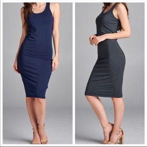 Dresses & Skirts - ✨LAST ONE✨Navy blue midi dress