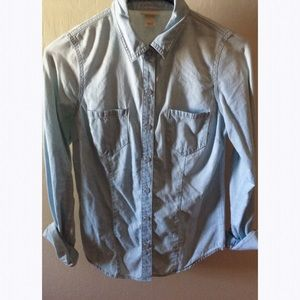 Merona Denim Button Up