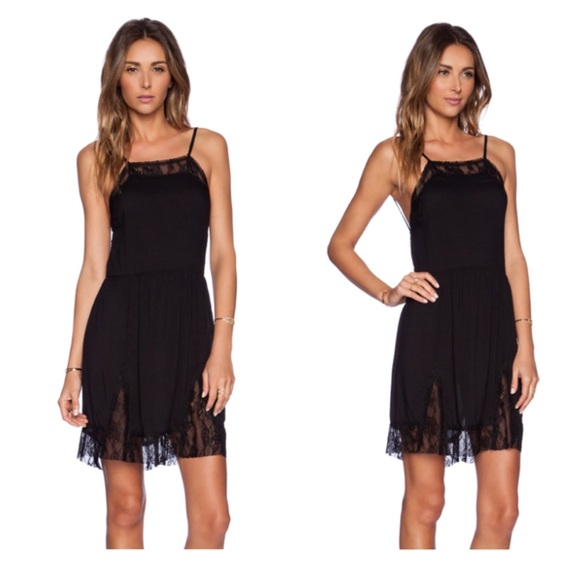 cd839e92b724 Free People Dresses   New Black Lace Insert Swing Slip Dress   Poshmark