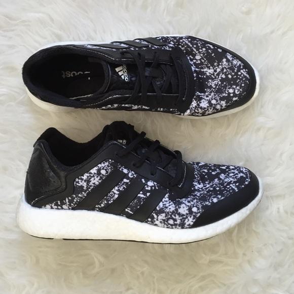 Adidas Boost Paint Splatter Running Shoe 8.5