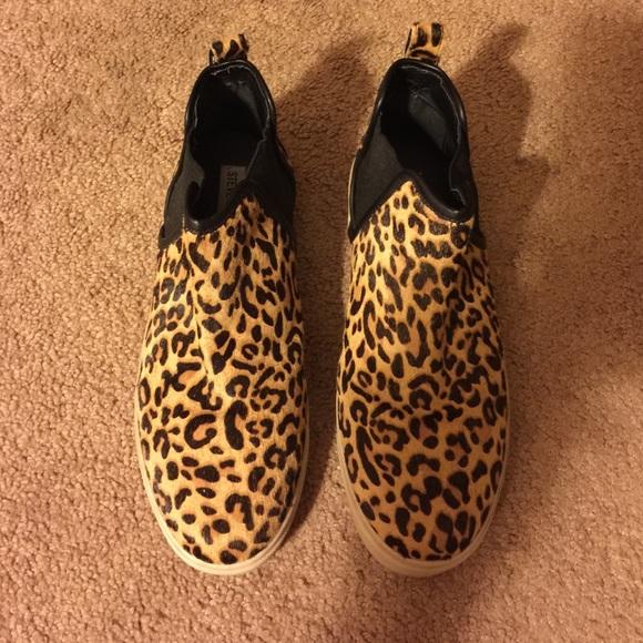 79c5bd7cecf Steve Madden  Elvinn  Leopard High Top Leopard. M 55ada610bf441c56cf01998c