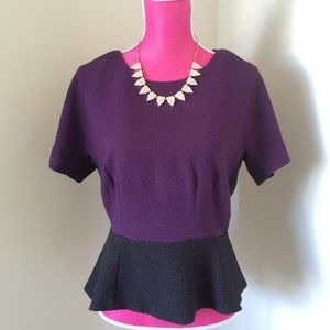 W118 by Walter Baker Colorblock Peplum Top