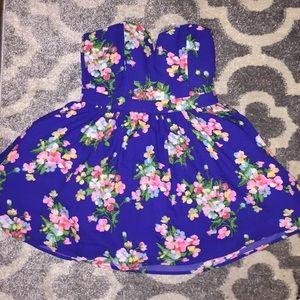 do & be Dresses & Skirts - Fashion Royal Blue with Floral Dress