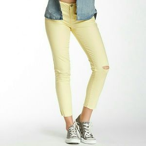 🤩JOLT  Distressed Raw Edge ankle jeans