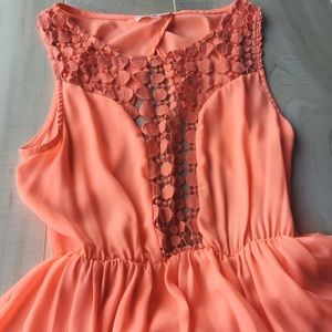 Boutique Neon Coral Dress