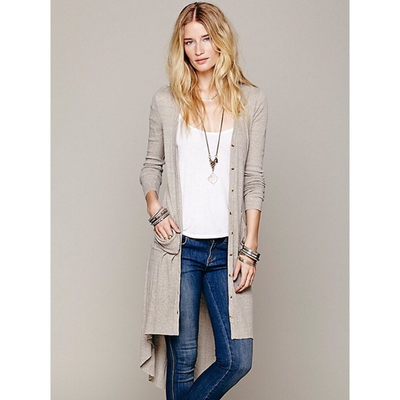 17% off Free People Sweaters - FP Beach Ribbed Up Maxi Cardigan ...