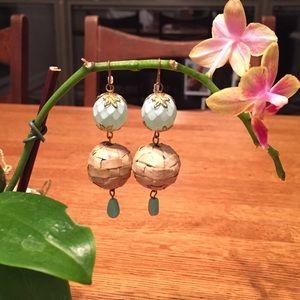 Drop Earrings with Vintage Details