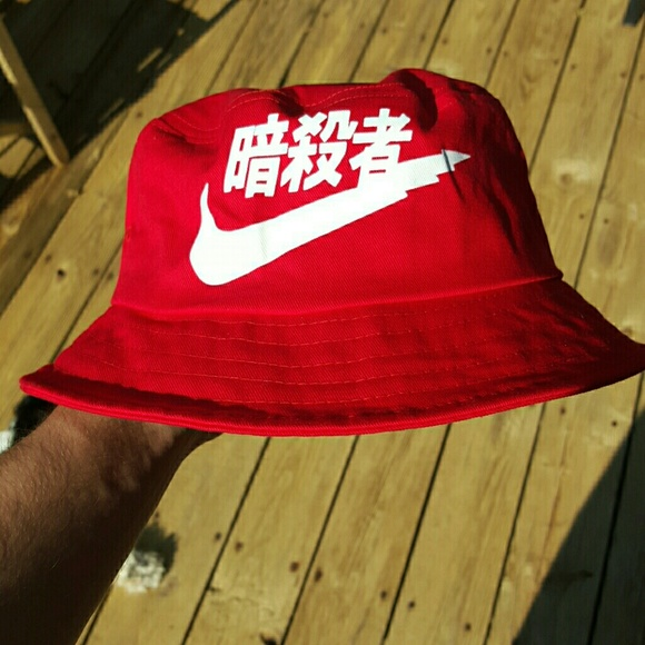 Rare red chinese nike bucket hat. M 55b99e9101930c1af2002354 728be11ed64