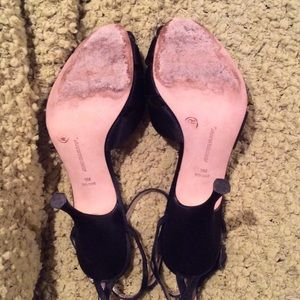 d2f1927a521 Johnston   Murphy Shoes - Johnston   Murphy Black Satin Ankle Strap Heels 9