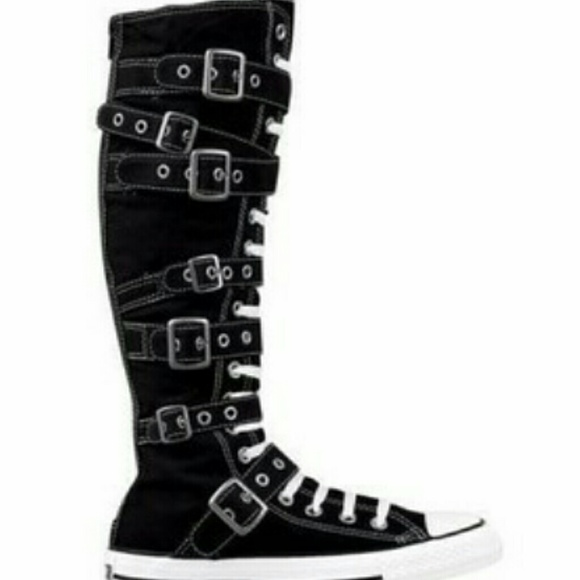 7311dcc37a3 Chuck Taylor Shoes - All star converse knee high boots with buckles