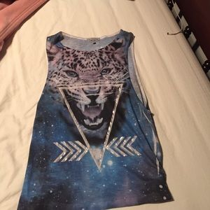 Charlotte Russe Galaxy Cheetah Tank Top