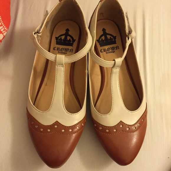 67 Off Crown Vintage Shoes Crown Vintage T Strap Flats