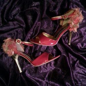 Hale Bob Shoes - Hale Bob rosette heeled shoes 8.5M