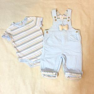 Other - NEW Baby Boy Blue Velvet Overall