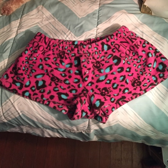 70% off Pants - Pink and blue leopard print fuzzy shorts from ...