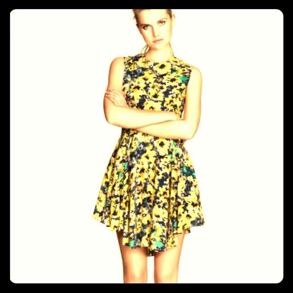 d2ed52846076a H&M Dresses | Floral Yellow Dress | Poshmark