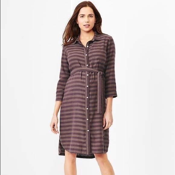 238e6d78338 GAP Dresses   Skirts - Maternity dress GAP pregnancy button front striped