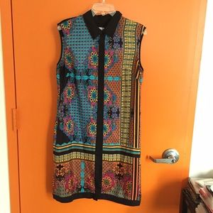 Ivy and Blu Dresses - Mosaic Print Shirt / Shift Dress