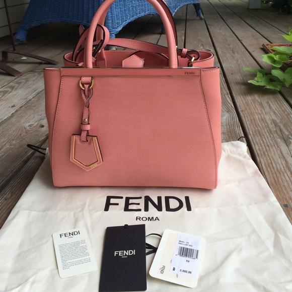 FENDI Bags   Nwt Authentic Peach Mini 2jours   Poshmark b66b5c28a0