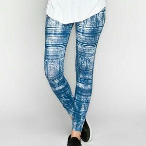 Blue Patterned Leggings