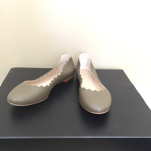Chloe Shoes Chlo Green Ballet Flat Size1040 Poshmark